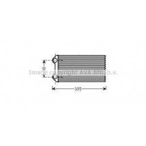 AVA RTA 6439 OP VIVARO/RN PARTNER 01- Радиатор отопления [OE  4409453/7701473279/91158692]