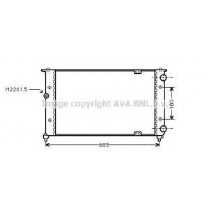 AVA COOLING ST2021 Радиатор IBIZA/CORD/POLO MT 93-99 (Ava)