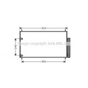 AVA TOA5405 Радиатор кондиционера