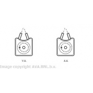 AVA VW 3215 Масляный радиатор [OE. 028.117.021 B, 028.117.021 K]