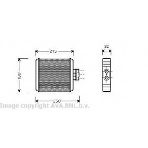 AVA COOLING VW6196 Радиатор отопителя POLO4/IBIZA4/FABIA 02- (Ava)