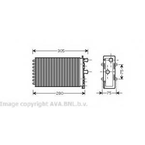 AVA VW 6239 VW радиатор печки