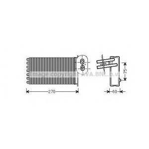 AVA COOLING VW6296 Радиатор отопителя VW T4 (пр-во AVA)