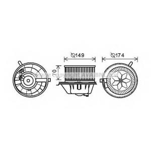 AVA QUALITY COOLING VW8342 Электродвигатель, вентиляция салона