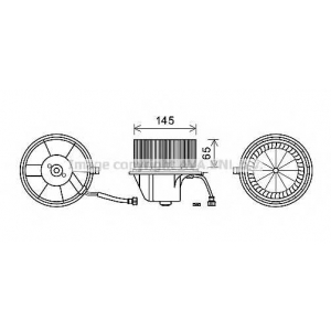 AVA VW8351 Вентилятор обігрівача