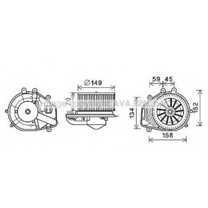 AVA QUALITY COOLING VW8353 Электродвигатель, вентиляция салона