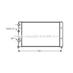AVA COOLING VWA2122 Радиатор PASSAT4 NT-D MT +AC 93-97 (Ava)