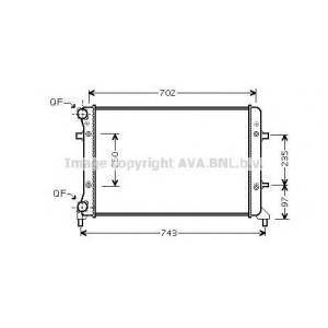 AVA VWA2205 AUDI A3 6/03- Радиатор 1.4i 16V (+AC), 1.6i 8V (?A?AC), 2.0 16V (?A?AC) [OE. 1K0