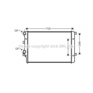 AVA VWA2206 AUDI A3 6/03- Радиатор 1.9TDi (?A?AC) [OE. 1K0.121.253 H]