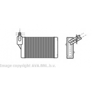 AVA VWA 6060 Радиатор печки, -8/98 [OE. 191.819.031 D / F]
