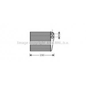 AVA COOLING VWA6229 Радиатор отопителя AUDI A 3 (8P) (03-) (1-й сорт)(пр-во AVA)