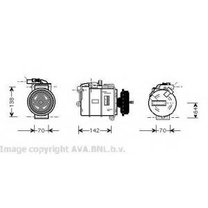 AVA VW K087 Компрессор VW-TRAN T5 03- 2.5 TDi