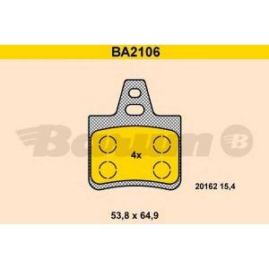 BARUM BA2106 Комплект тормозных колодок, дисковый тормоз Ситроен Хм