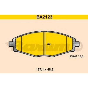 BARUM BA2123 Комплект тормозных колодок, дисковый тормоз Дэу Матиз