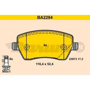 BARUM BA2284 Комплект тормозных колодок, дисковый тормоз Дача Доккер