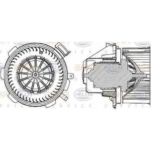 BEHR HELLA 8EW 351 034-061 Моторчик пічки (-AC) DB Sprinter 06-