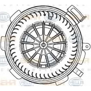 BEHR 8EW351 034-071 Моторчик вентилятора салона W-906 Crafter A 0008356107