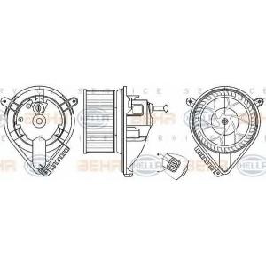 BEHR-HELLA 8EW 351304-021 Моторчик печки Sprinter (так же,VW)