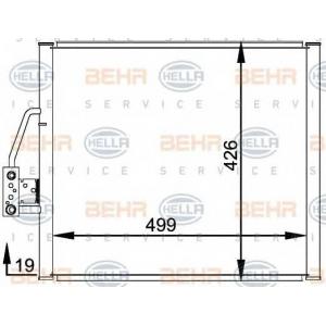 BEHR-HELLA SERVICE 8FC 351 300-001 Конденсатор