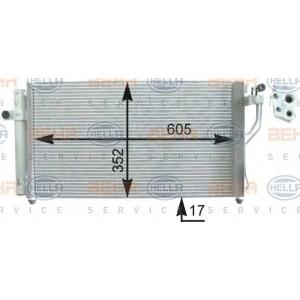 BEHR-HELLA SERVICE 8FC 351 303-171 Конденсатор  Hyundai  Accent  05-   M/A