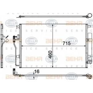 BEHR-HELLA 8FC 351 307-641 Радиатор кондиционера Sprint /Crafter 06>>