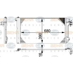 8fc351317651 behrhella Конденсатор, кондиционер VW MULTIVAN вэн 2.0