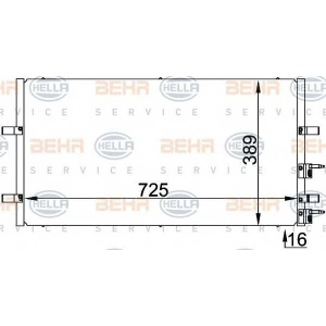BEHR-HELLA 8fc351318-411 Радиатор кондиционера