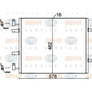 BEHR 8FC351318-691 Радиатор кондиционера с 2007
