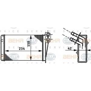 BEHR-HELLA SERVICE 8FH 351 311-031 Радиатор отопителя