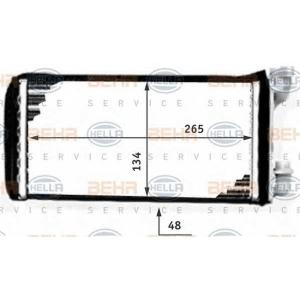 BEHR-HELLA SERVICE 8FH 351 311-431 Радиатор отопителя