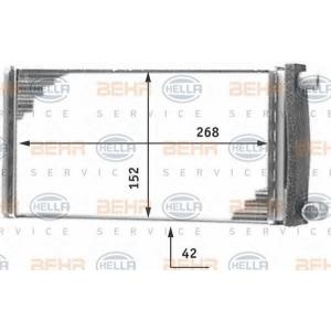 BEHR-HELLA SERVICE 8FH 351 312-251 Радиатор отопителя