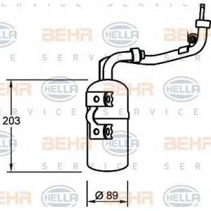 BEHR-HELLA SERVICE 8FT 351 335-061 Осушитель Ford Focus