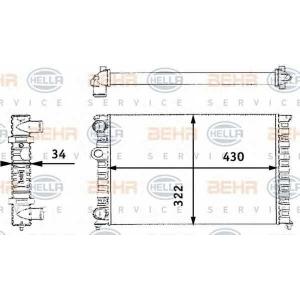 BEHR-HELLA SERVICE 8MK 376 713-741 Радиатор