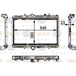 BEHR-HELLA SERVICE 8MK 376 714-391 Радиатор
