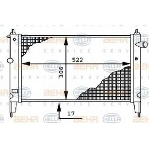 BEHR-HELLA SERVICE 8MK 376 716-071 Радиатор