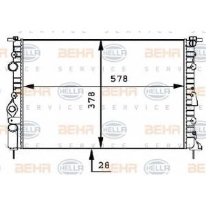 BEHR-HELLA SERVICE 8MK 376 717-451 Радиатор