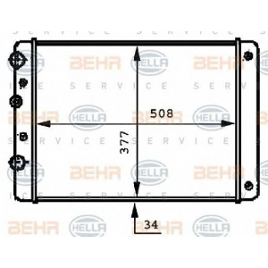 BEHR-HELLA SERVICE 8MK 376 717-711 Радиатор