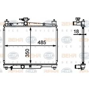 BEHR-HELLA SERVICE 8MK 376 718-421 Радиатор
