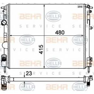 BEHR-HELLA SERVICE 8MK 376 719-691 Радиатор