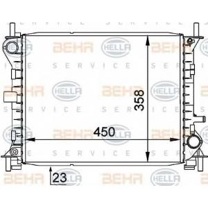 BEHR-HELLA SERVICE 8MK 376 720-281 Радиатор
