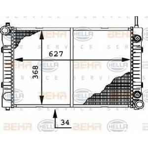 8mk376721291 behrhella Радиатор, охлаждение двигателя MERCEDES-BENZ T2/LN1 фургон/универсал 507 D (667.361, 667.362)