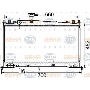 BEHR-HELLA SERVICE 8MK 376 750-261 Радиатор
