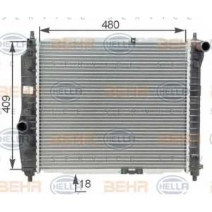 BEHR-HELLA 8mk376762-641 Радиатор