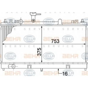 BEHR-HELLA SERVICE 8MK 376 769-671 Радиатор