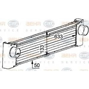BEHR-HELLA 8ML 376 723-521 Радиатор интеркулера 639 CDI
