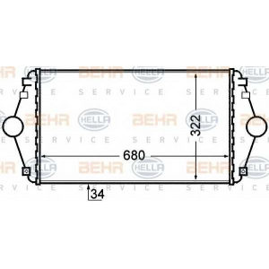 BEHR-HELLA SERVICE 8ML 376 727-641 Интеркуллер