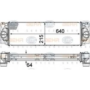 BEHR 8ML 376 777-391 Радиатор интеркулера