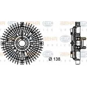 BEHR-HELLA 8MV 376 732-021 Вискомуфта вентилятора радиатора