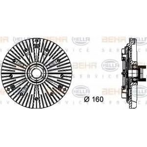 BEHR-HELLA 8MV 376 732-111 Вискомуфта вентилятора радиатора