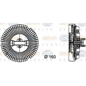 BEHR-HELLA 8MV376733-021 Муфта/крильчатка вентилятора BMW 7 (E65, E66) / X5 (E53) / LAND ROVER Range Rover III (LM)